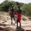 Samburu herds boys, Kenya