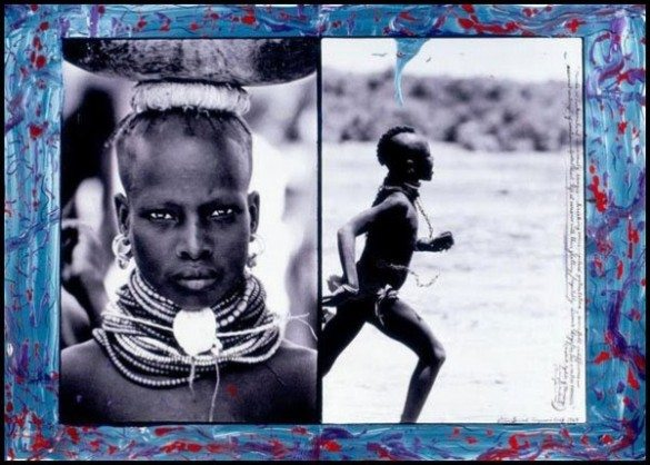 peter beard, collages, photography, paintings, fashion, art, kenya