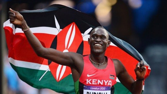 david rekuta radish, rudisha, olympics, 800m, gold medal, kenya, kenyan, world record, flag, london 2012,