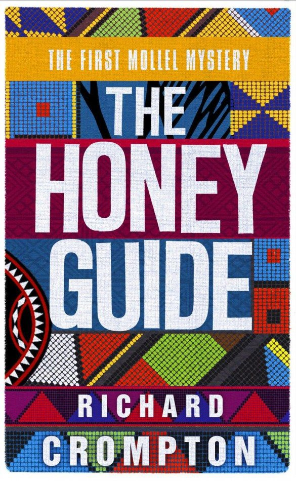 the honey guide, richard crompton, kenya, police, crime series, crime novel, book cover, african art, african book